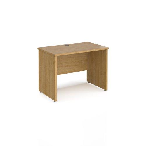 Maestro 25 straight desk 1000mm x 600mm - oak top with panel end leg