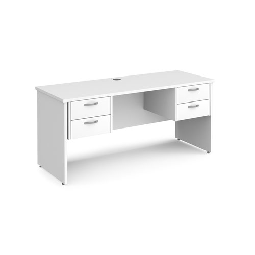 Maestro 25 panel end 600mm deep desk with 2 x 2 drawer peds
