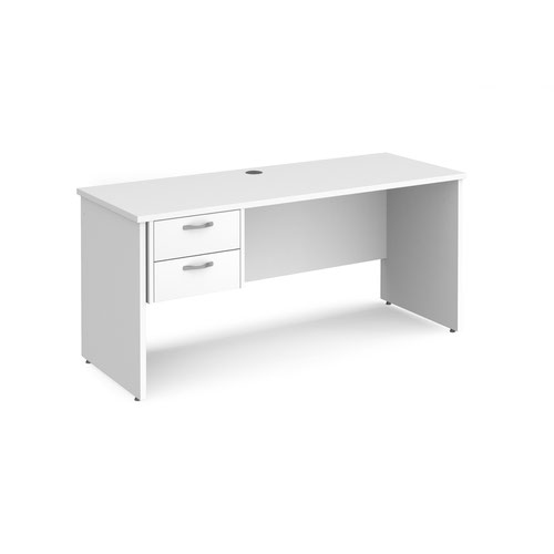 Maestro 25 panel end 600mm deep desk with 2 drawer ped