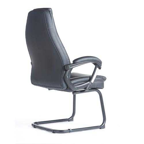 Noble executive visitors chair - black faux leather Visitors Chairs NBO100C1