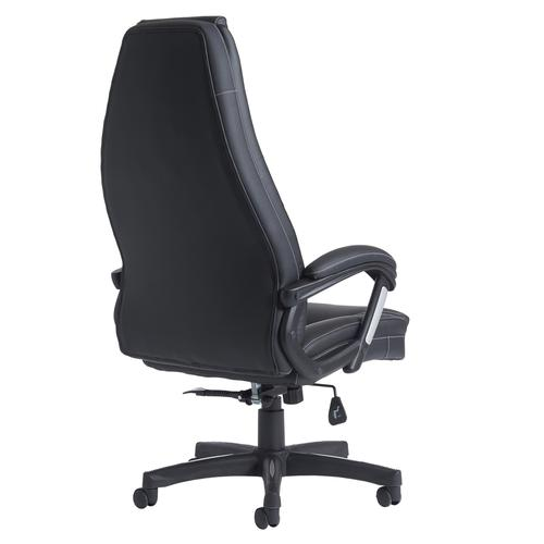 Noble high back managers chair - black faux leather Office Chairs NBO300T1