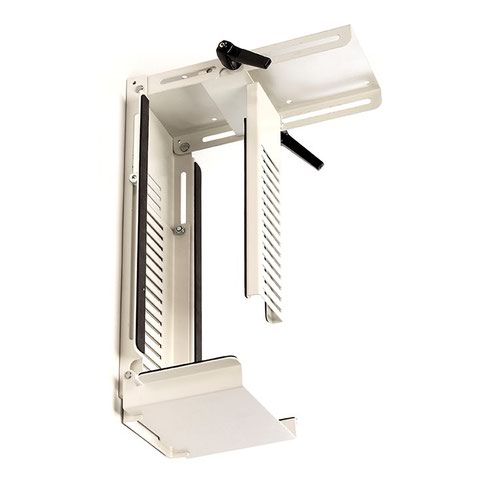 Neon under desk CPU holder - white