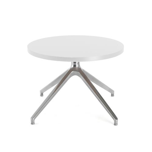 Otis coffee table 600mm diameter with oak top and pyramid base - made to order