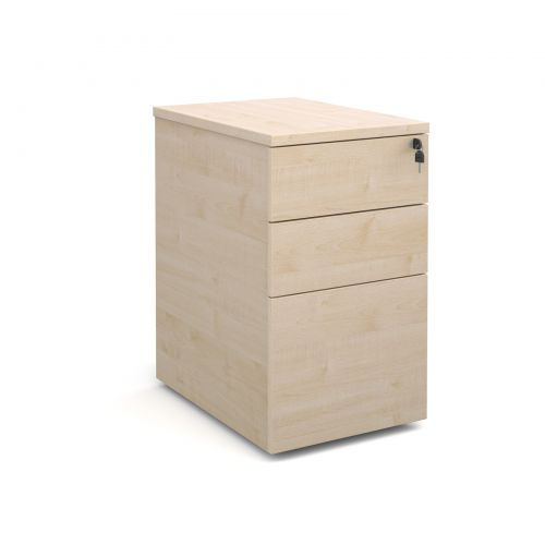 Deluxe Desk High Pedestal 3 Drawer 426x600mm Maple Finish P63M