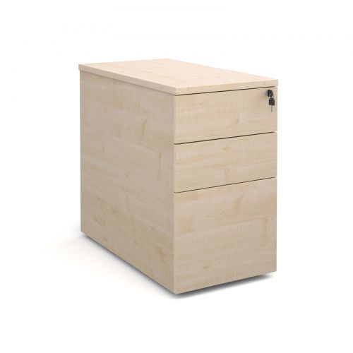 Deluxe Desk High Pedestal 3 Drawer 426x800mm Maple Finish P83M
