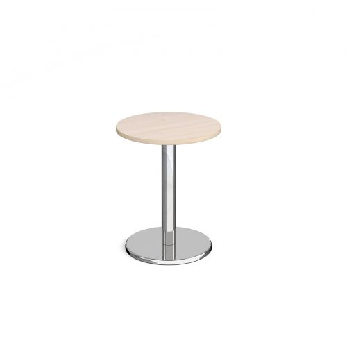 Pisa Circular Dining Table Round Base 600mm Maple Top PDC600-M