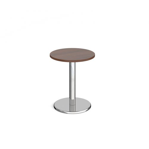 Pisa Circular Dining Table Round Base 600mm Walnut Top PDC600-W
