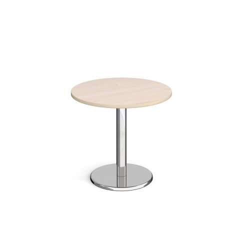 Pisa Circular Dining Table Round Base 800mm Maple Top PDC800-M