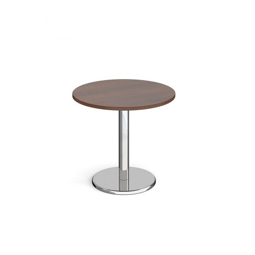Pisa Circular Dining Table Round Base 800mm Walnut Top PDC800-W