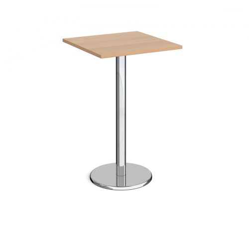 Pisa Square Poseur Table Round Base 700mm Beech Top PPS700-B