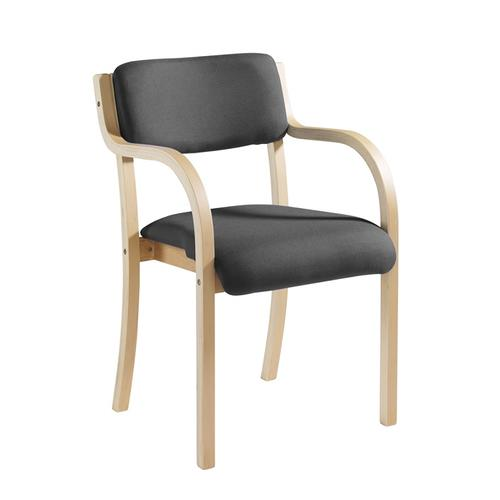 Prague Conference Chair Wood/Charcoal PRA50002-C