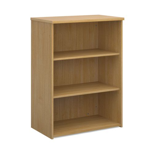 Dams 2 Shelf Bookcase 1090h/800w/470d 25mm Top Oak