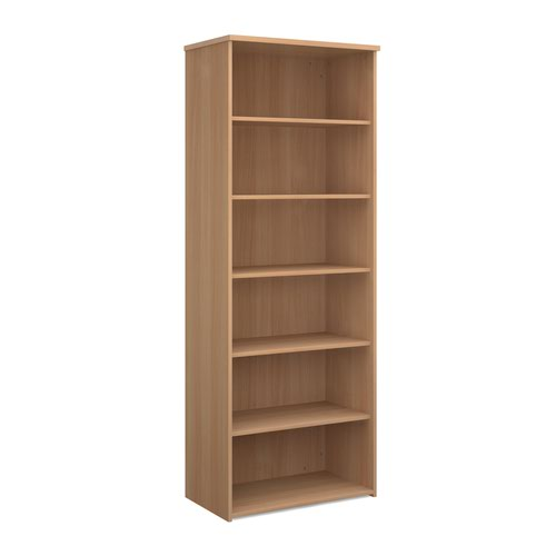 Dams 5 Shelf Bookcase 2140H/800W/470D 25mm Top Beech