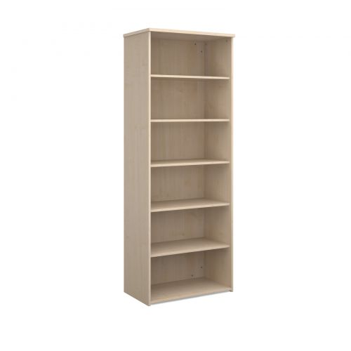 Universal bookcase 2140mm high with 5 shelves - maple