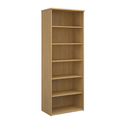 Dams 5 Shelf Bookcase 2140H/800W/470D 25mm Top Oak