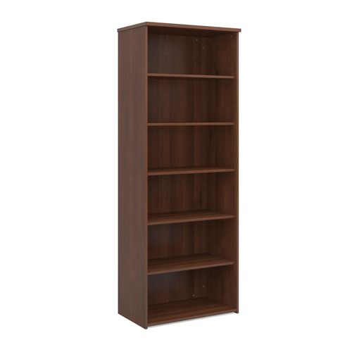 Dams 5 Shelf Bookcase 2140H/800W/470D 25mm Top Walnut