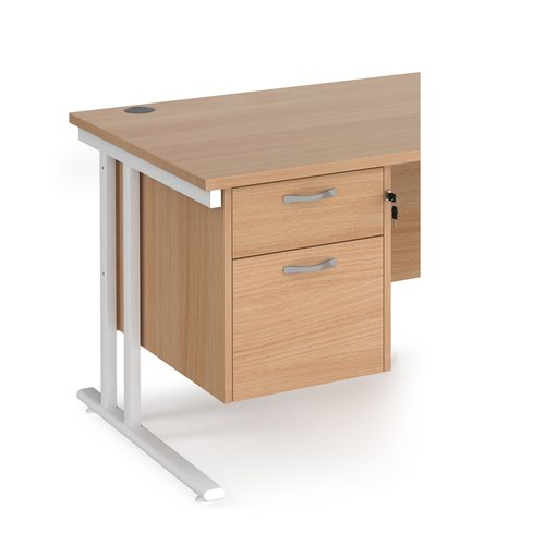 Maestro 25 2 drawer fixed pedestal - beech