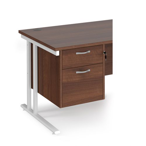 Maestro 25 2 drawer fixed pedestal - walnut