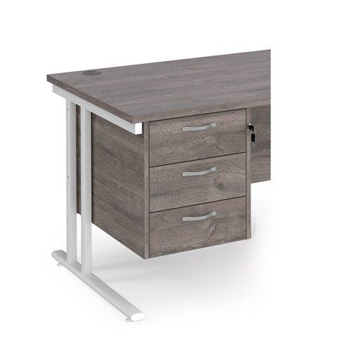 Maestro 25 3 drawer fixed pedestal - grey oak