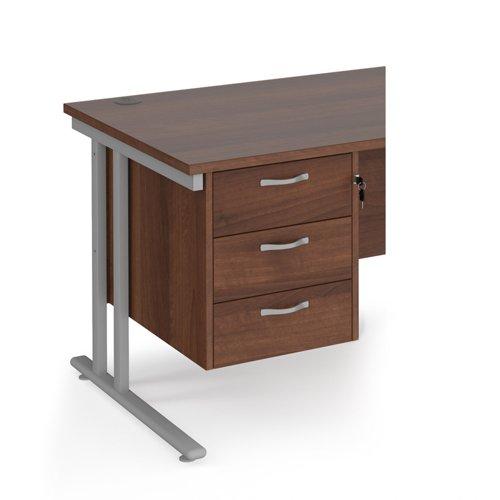 Maestro 25 3 drawer fixed pedestal - walnut