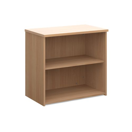 Universal bookcase 740mm high with 1 shelf - beech