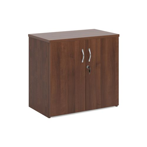Universal double door cupboard 740mm high with 1 shelf - walnut