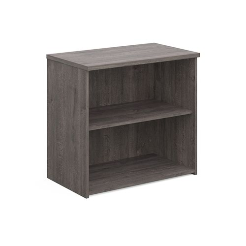 Universal bookcase 740mm high with 1 shelf - grey oak