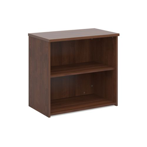 Universal bookcase 740mm high with 1 shelf - walnut