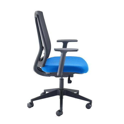 Ronan mesh back operators chair with fixed arms - blue Office Chairs RON300T1-B