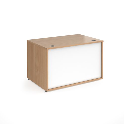 Denver reception straight base unit 1200mm - beech with white panels