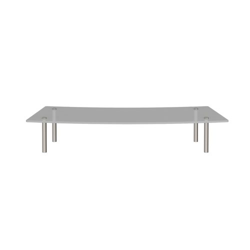 Denver reception glass shelf 800mm curved