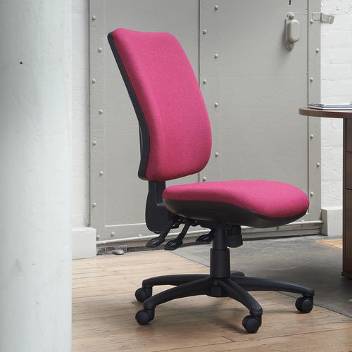 Senza extra high back operator chair with fixed arms - Costa Blue Office Chairs SX43-000-YS026
