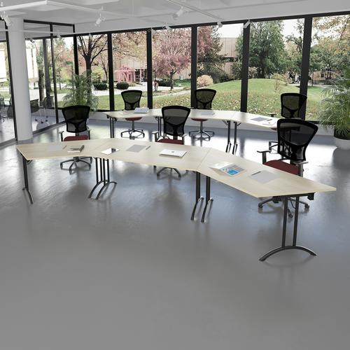 Senza high mesh back operator chair with fixed arms - Nero Black vinyl Office Chairs SM43-000-00110