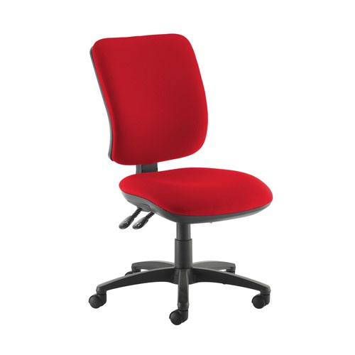 Senza high back operator chair with no arms - Panama Red