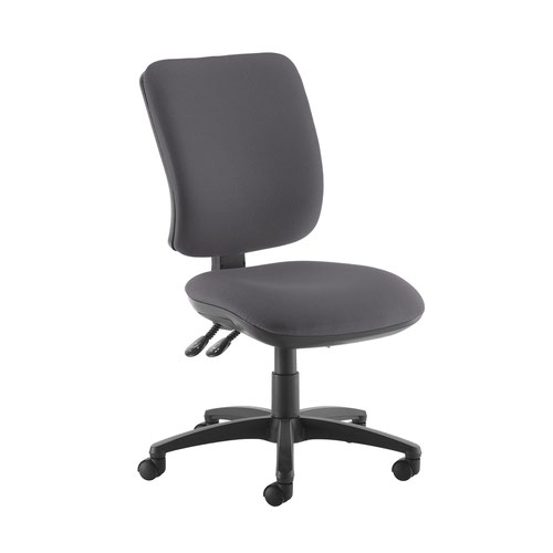 Senza high back operator chair with no arms - Blizzard Grey Office Chairs SH40-000-YS081