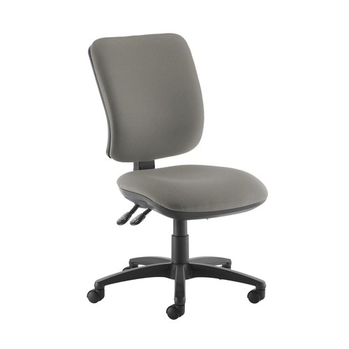 Senza high back operator chair with no arms - Slip Grey