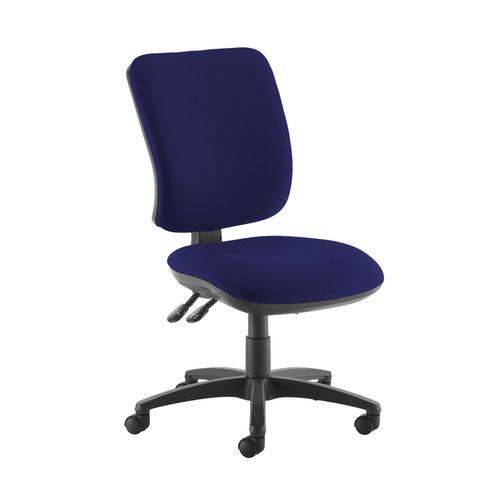 Senza high back operator chair with no arms - Ocean Blue
