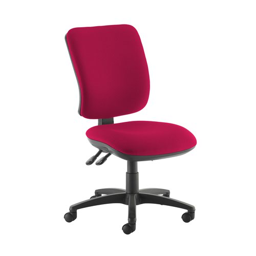 Senza high back operator chair with no arms - Diablo Pink