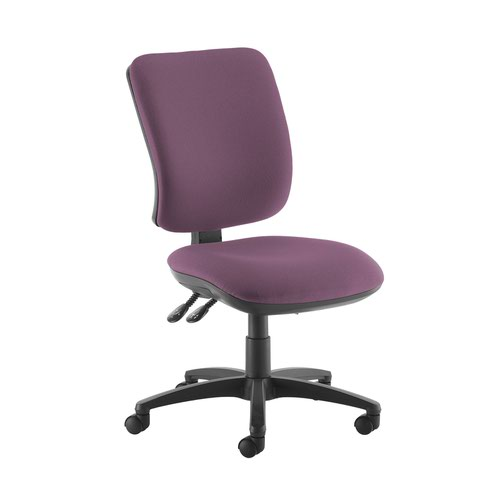 Senza high back operator chair with no arms - Bridgetown Purple