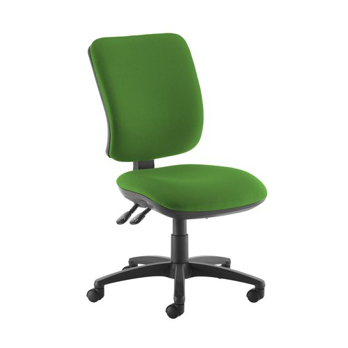 Senza high back operator chair with no arms - Lombok Green