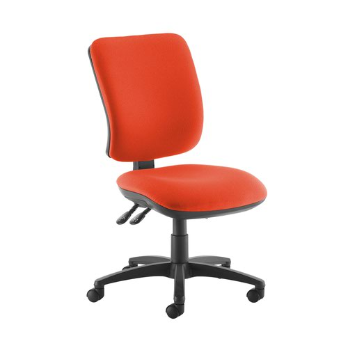 Senza high back operator chair with no arms - Tortuga Orange
