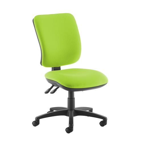 Senza high back operator chair with no arms - green