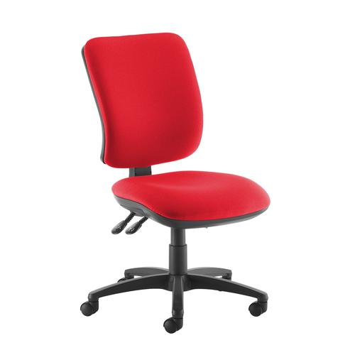 Senza high back operator chair with no arms - red