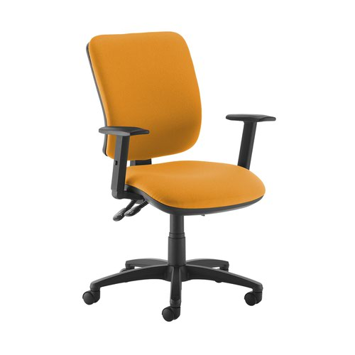 Senza high back operator chair with adjustable arms - Solano Yellow