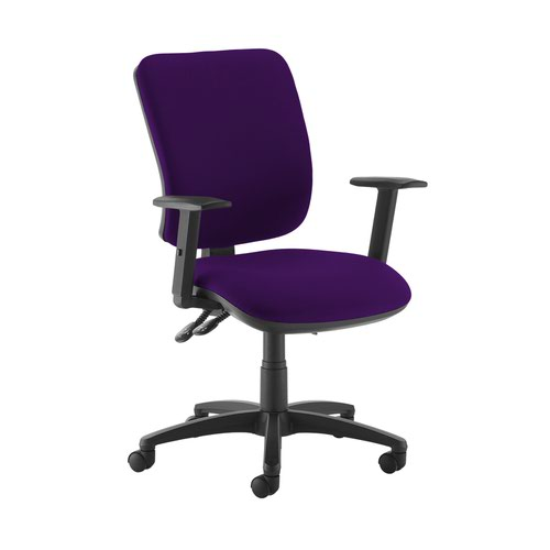 Senza high back operator chair with adjustable arms - Tarot Purple