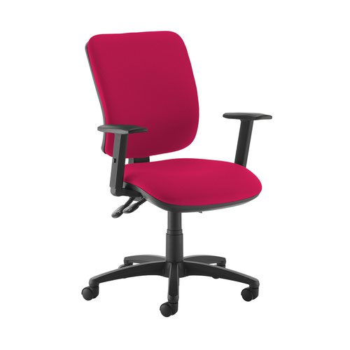 Senza high back operator chair with adjustable arms - Diablo Pink Office Chairs SH44-000-YS101