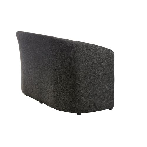 Slender fabric reception double 2 seater chair 1225mm wide - charcoal Reception Chairs SLE50002-C