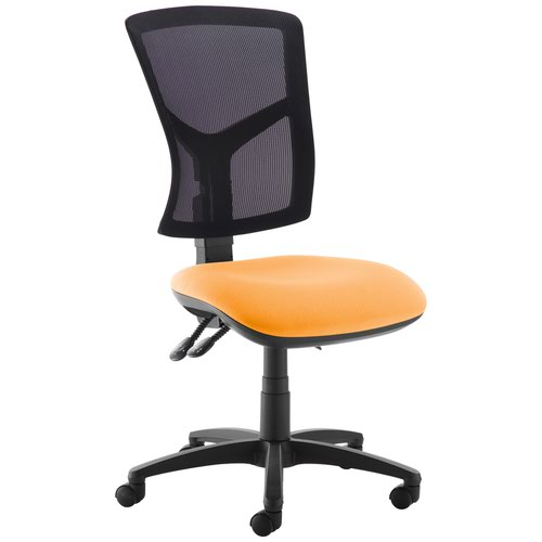 Senza high mesh back operator chair with no arms - Solano Yellow