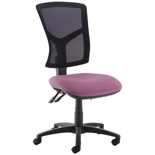 Senza high mesh back operator chair with no arms - Bridgetown Purple