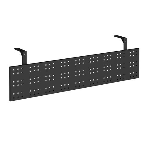 Steel perforated modesty panel for use with 1600mm single desks - black